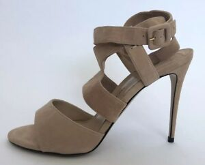 Paul-Andrew-Women-Shoes-Size-37-NIB-Nude-Suede-Sandals-Heels