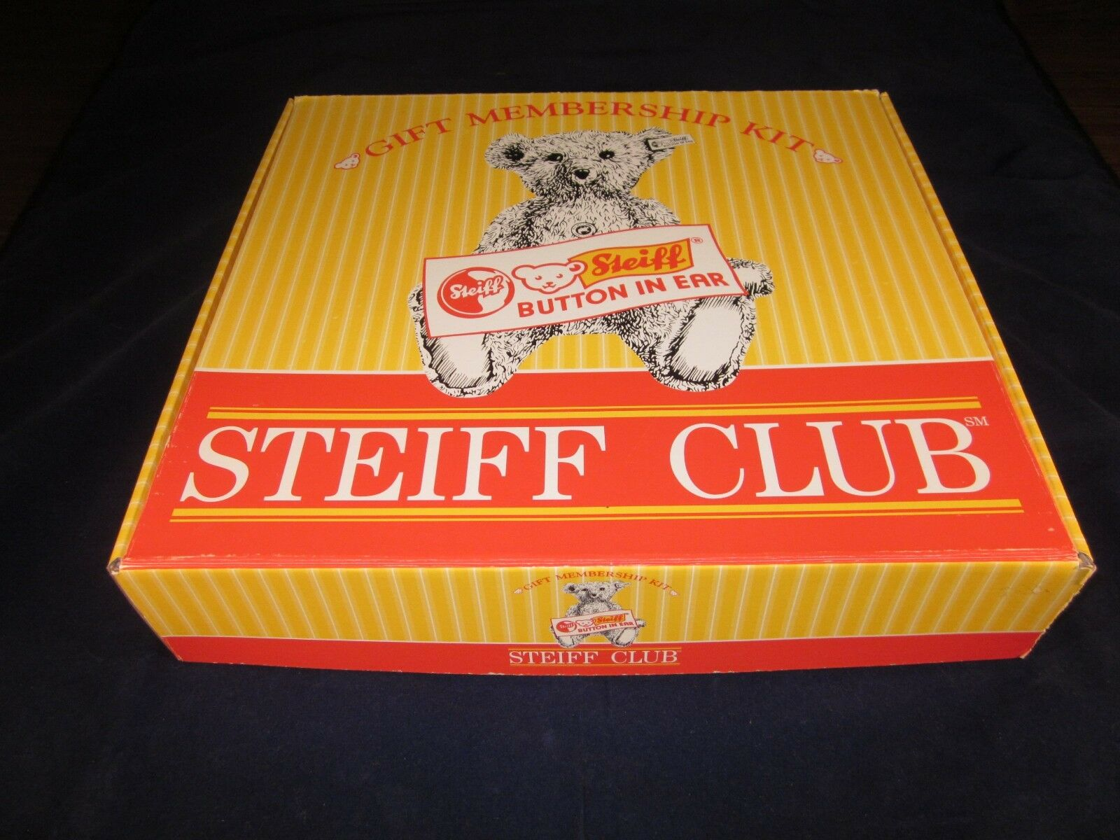 STEIFF Club 1997 Membership Kit with Teddy Bear ~ NEW with TAG in BOX