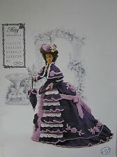 Annie's Attic Fashion Bed Doll Miss May Crochet Pattern 1993 Victorian
