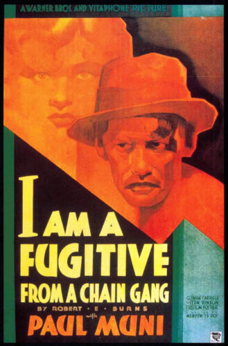 I am a fugitive from a chain gang vintage movie poster