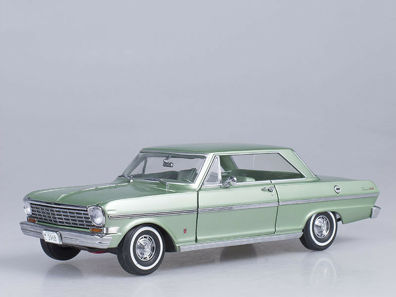 Scale model 1 18 Chevrolet Nova, 1963 (lauren green)