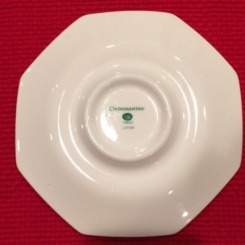 NIKKO CHRISTMASTIME Replacement Saucer For Coffee Tea Cup Octagonal Christmas