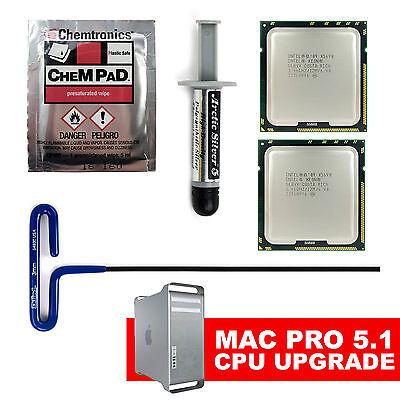 12 Core X5680 x2 3.33Hz XEON CPUs 2010 2012 Apple Mac Pro 5,1 upgrade kit twelve