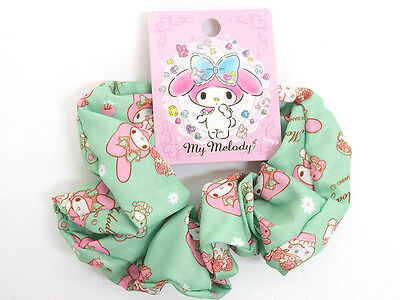 F/S Sanrio MY MELODY Scrunchie Hair Tie Green from Japan auction