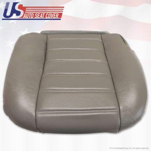 2003 to 2007 Hummer H2 Driver Side Bottom Genuine Leather Seat Cover Wheat Gray