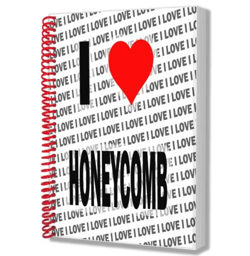 I Love Honeycomb A5 Notebook Pad Diary Drawings Birthday Christmas Gift