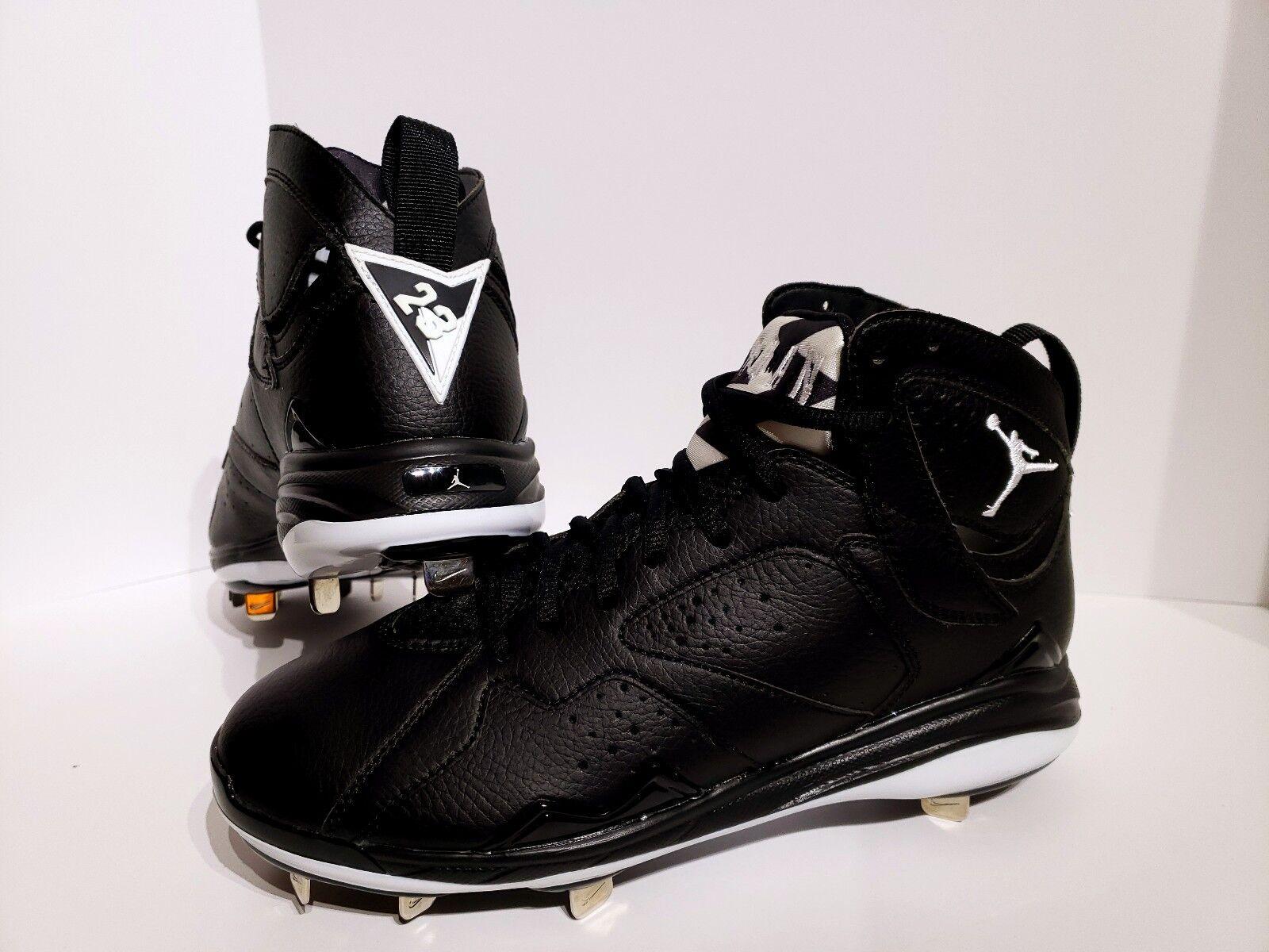 Nike Air Jordan Retro 7 Oreo Metal Baseball Cleats 684943-010 Mens Size 10.5