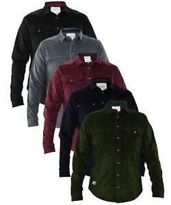Mens-Corduroy-Cotton-Shirt-Long-Sleeve-Casual-Shirts-Jacksouth-Jacket-Top-S-2XL