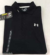 Under Armour Men UA Golf Performance Logo Polo T-shirt Black 001 Medium