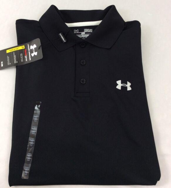 Under Armour Men Ua Golf Performance Logo Polo T Shirt Black 001