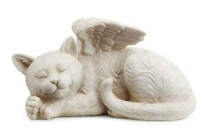 Angel Cat Bereavement Memorial Statue Pet Grave Marker