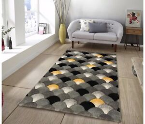 Modern Ochre Mustard Rug For Living