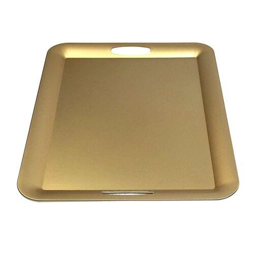 Fantastic:)™ Decorative Tray With Shinny Finish. (1, Rectangle Thin Gold)