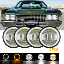 4pcs 5 34 575 85w Led Hilo Drl Headlights For Chevy Impala Bel Air El Camino Fits 1972 Charger