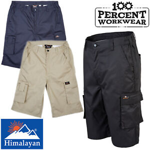 Hard-Wearing-High-Quality-Work-Shorts-Cargo-Pockets-Polycotton-Warehouse-Driver