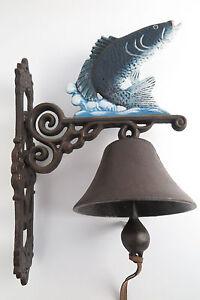 Jardín muro campana campana pescado Angler hierro fundido hierro campana barco campana  </span>