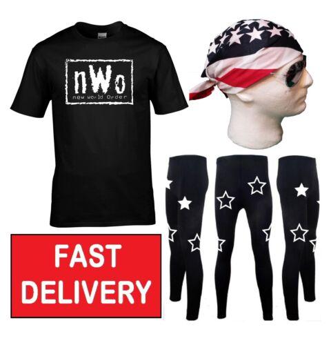 Randy Savage NWO FOLIE ROBE FANTAISIE 90 S LEGEND retro sport lutteur Drapeau Américain Kit
