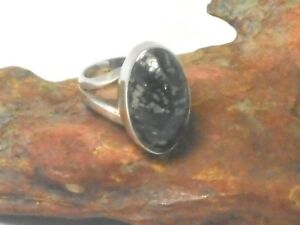 Apache-GOLD-Sterling-Silver-925-Gemstone-RING-Size-N