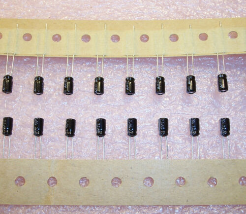 QTY 2.2uf 50V 4x7mm MINIATURE RADIAL ELECTROLYTIC  PANASONIC ECEA1HKA2R2I 50