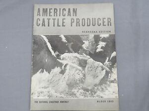 Vintage AMERICAN CATTLE PRODUCER Nebraska Edition Magazine 1942 Februar Hereford
