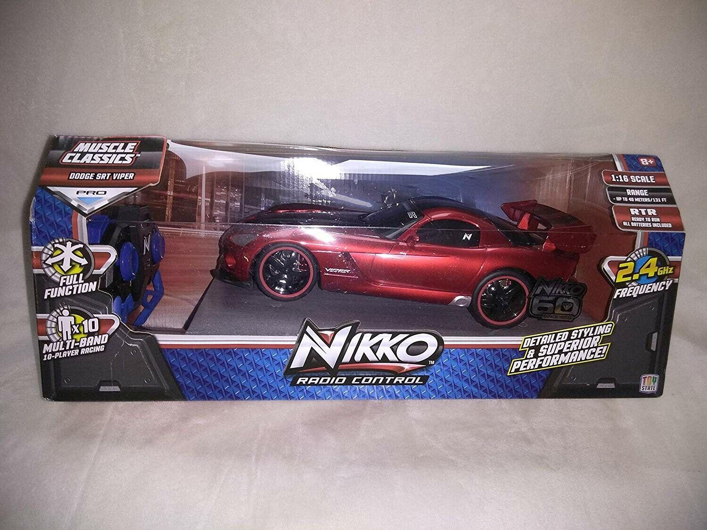 Nikko Radio Control muscular Classics Dodge SRT Viper Pro función completa escala 1 16