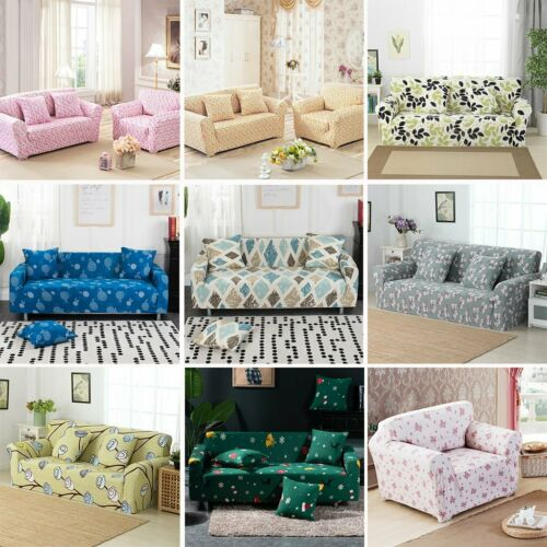 1//2//3//4 Sofa Covers Couch Slipcover Stretch Elastic Fabric Settee Protector CN