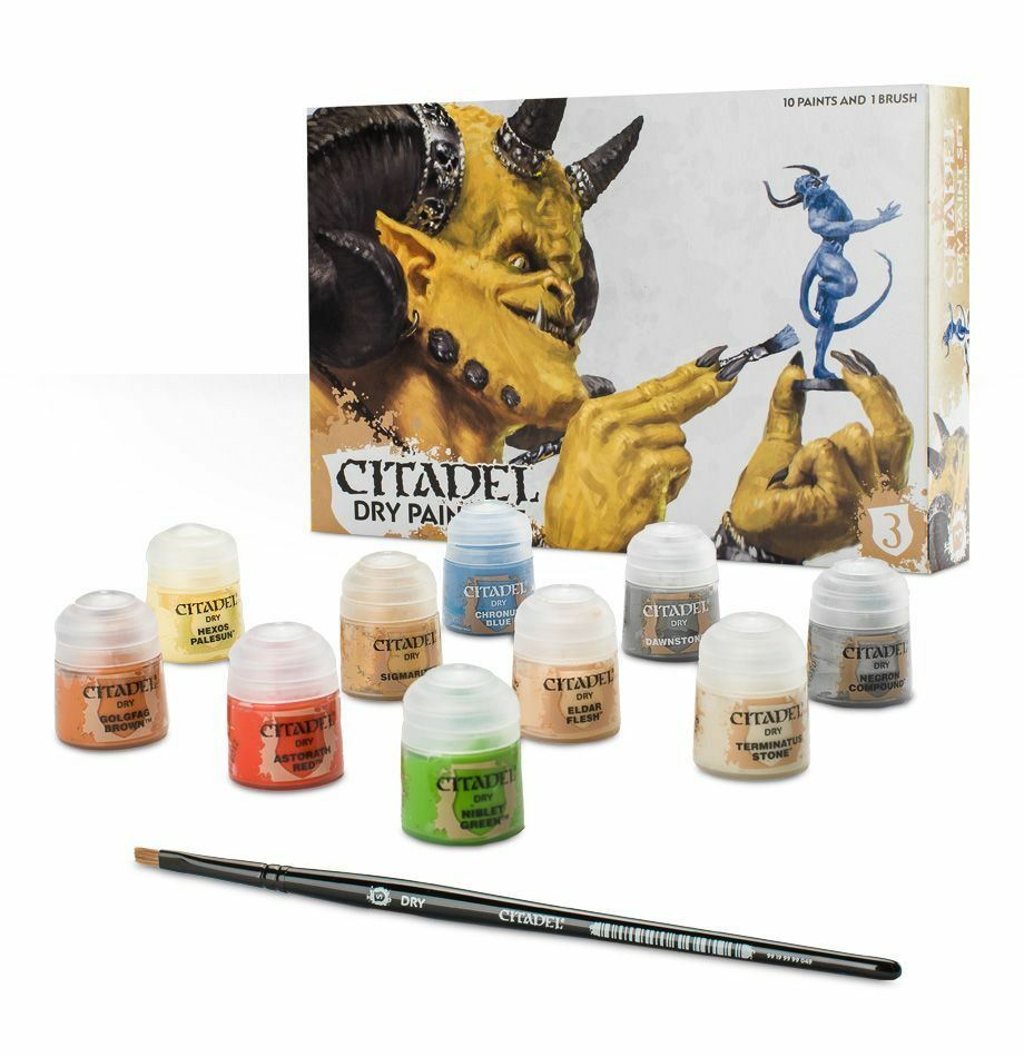 Warhammer 40k AoS - Citadel Dry Paint Set - Brand New in Box  - 60-24