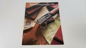 1986 Marlin Sporting Firearms Catalog Guns Illustrated Vintage  S8