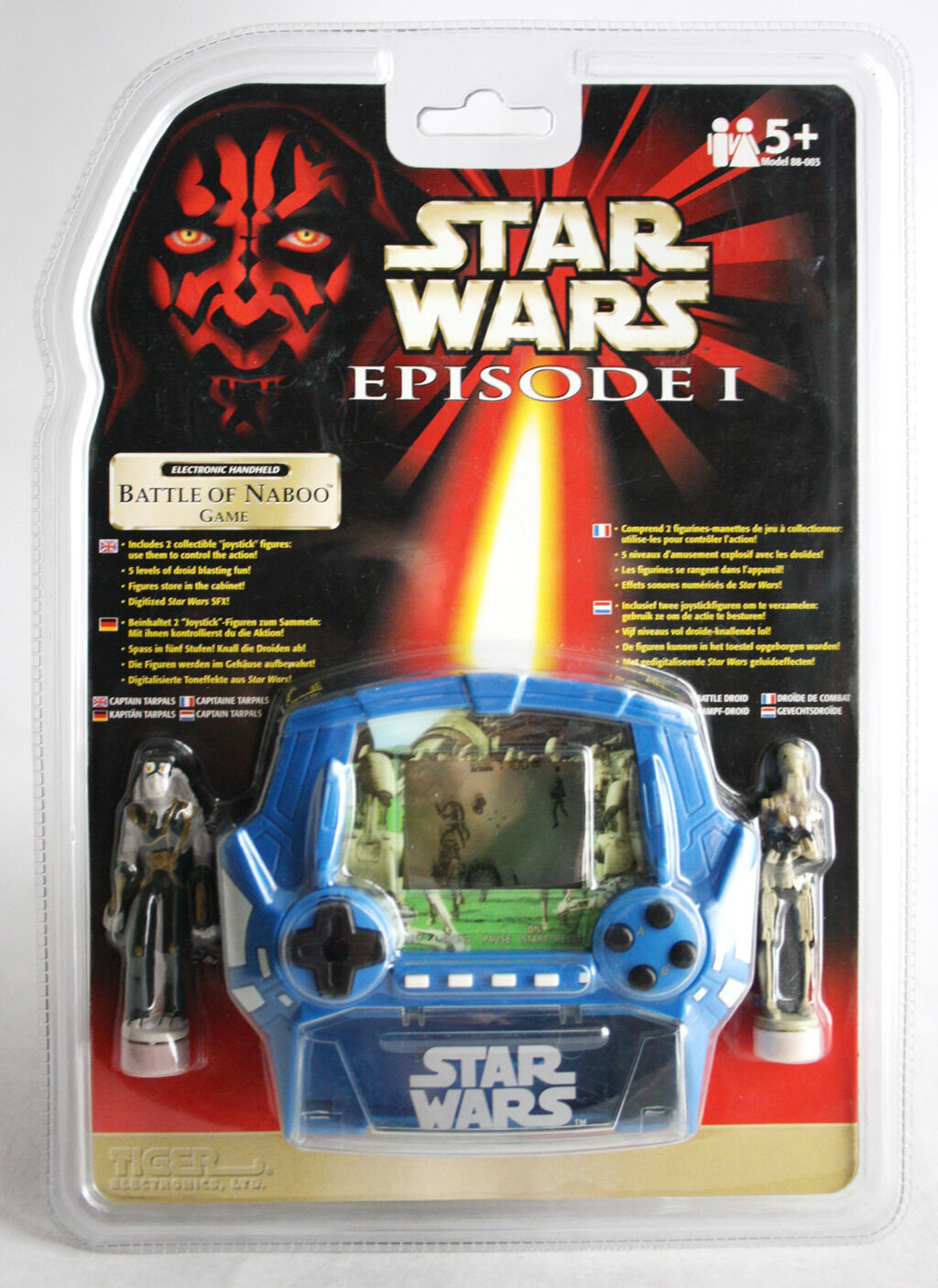 RARE 1999 STAR WARS EPISODE I BATTLE OF NABOO HANDHELD LCD GAME TIGER NEW