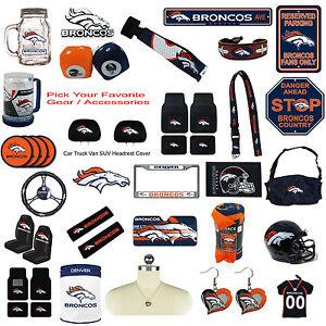 New NFL Denver Broncos Pick Your Gear / Automotive Accessories ...