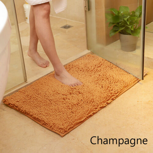 Soft Microfiber Shaggy Non Slip Absorbent Bath Mat Bathroom Shower Rugs Carpet~