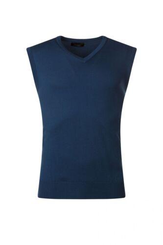 Mens Great /& British Knitwear 100/% Merino Plain V Neck Slipover