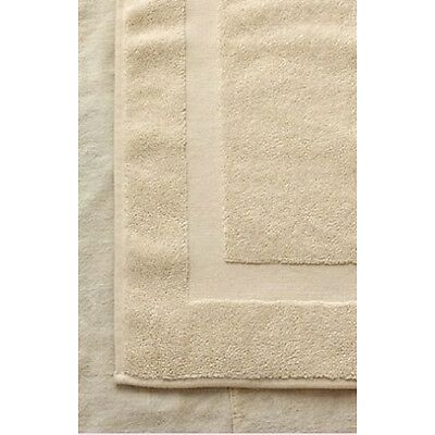 1 BEIGE COTTON HOTEL BATH MATS LARGE 22x34 *PREMIUM* ABSORBENT
