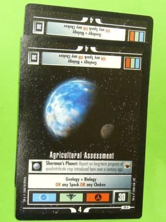 STAR TREK CCG AGRICULTURAL ASSESSMENT x2