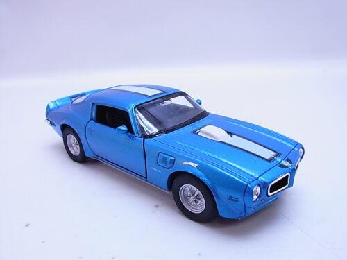 56280Welly Pontiac Firebird Trans Am 1972 blau muscle car Modellauto 1:40 NEU