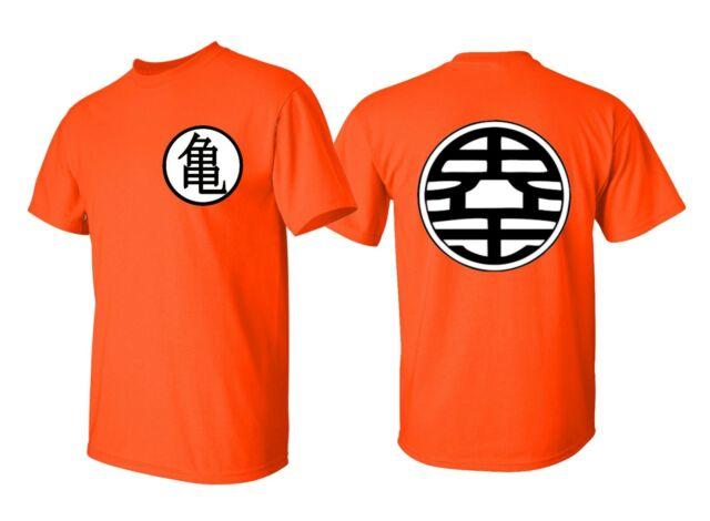 Dragon Ball Z Dbz Goku Kame Symbol Officially Licensed Adult T Shirt