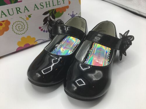 """Laura Ashley Girls Toddler Size 8C /""""Jessica/"""" Mary Janes w// Flower NEW IN BOX!"""