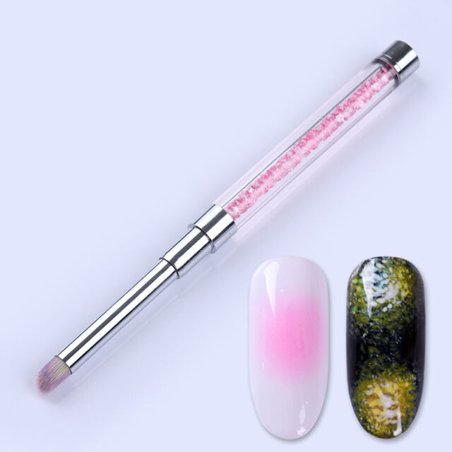 UV Gel Nagel Pinsel Rosa Strass Griff Malerei Stift Nail Art Maniküre Pinsel