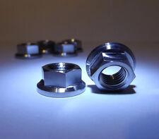 5 titanium flange hex head nuts  M12x1.25mm sprocket/ engine mount