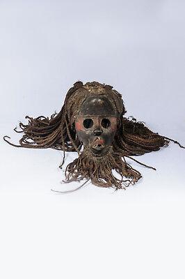Hilfreich 52) Dan Yakuba Maske Afrika Alt / Masque Dan Yacouba Ancien / Old Dan Mask