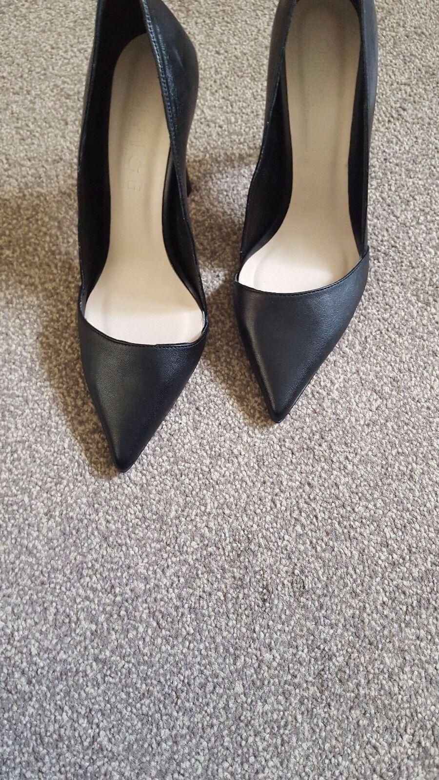 Noir Femme Bureau Talons Hauts Escarpins Chaussures Taille 5