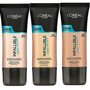 L-039-OREAL-INFALLIBLE-PRO-GLOW-24HR-FOUNDATION-NEW-amp-SEALED-PLEASE-SELECT-SHADE