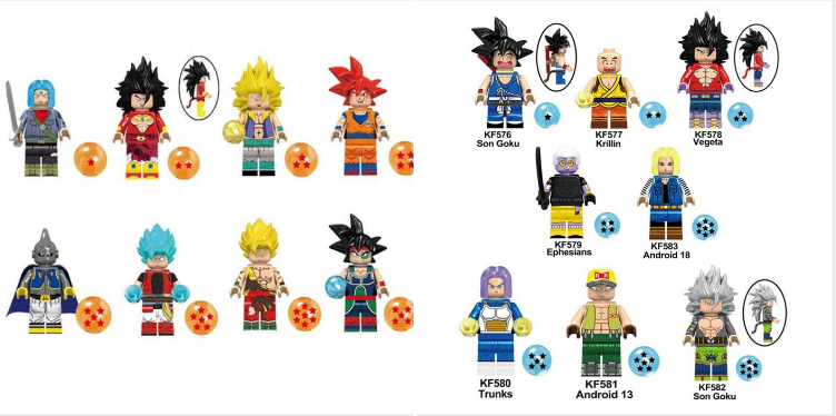 BIG SIZE BROLI MODEL MANGA ANIME DRAGON BALL SON GOKU LEGO Moc MR GOLD C3P0