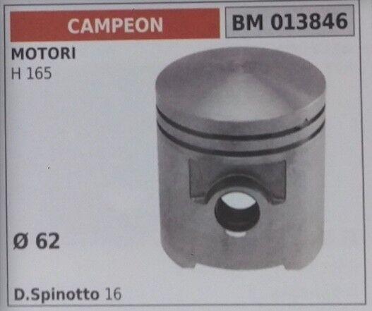 PISTÓN COMPLETO SEGMENTOS Y PERNO MOTOR CAMPEON H 165 D. 62