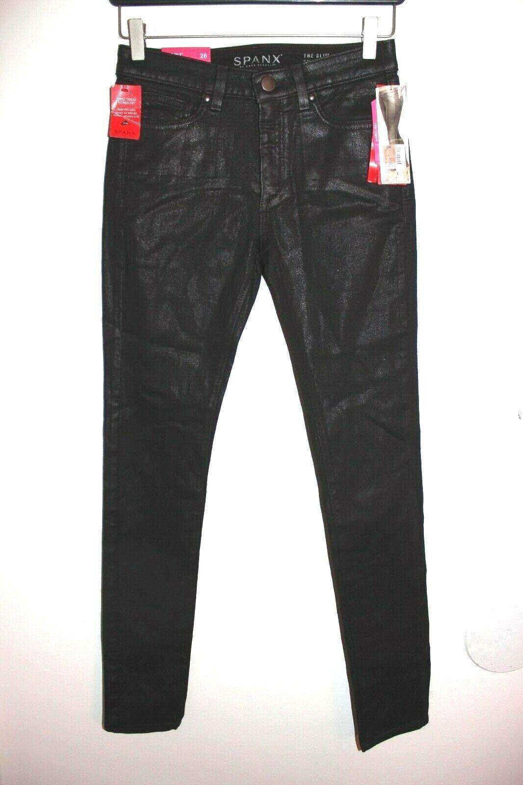 NWT SPANX The Slim X Skinny jeans AUBERGINE WAX  FD1014 sz 26 with FREE SHIPPING