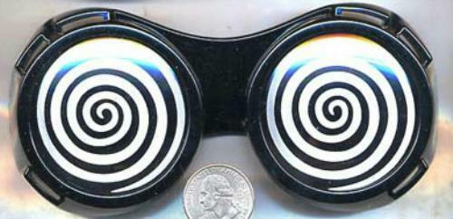 Black X-Ray Hypnotizing Sunglasses with Swirl Lens