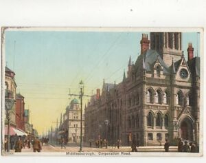 Middlesbrough-Corporation-Road-Vintage-Postcard-176b
