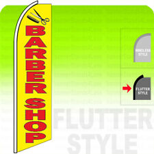 Barber Shop Swooper Flag Feather Banner Sign 115 Tall Flutter Style Yb