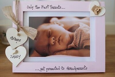 Personalised Photo Frame by Filly Folly! First Grandchild,New Grandparents 7x5''