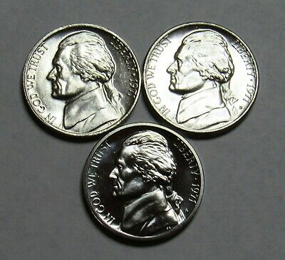 1978 P,D/&S Jefferson Nickels in BU and Proof condition